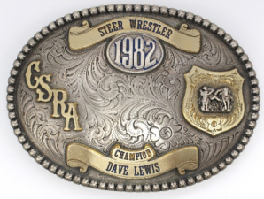 Dave Lewis CSRA Steer Champion Buckle, 1982
