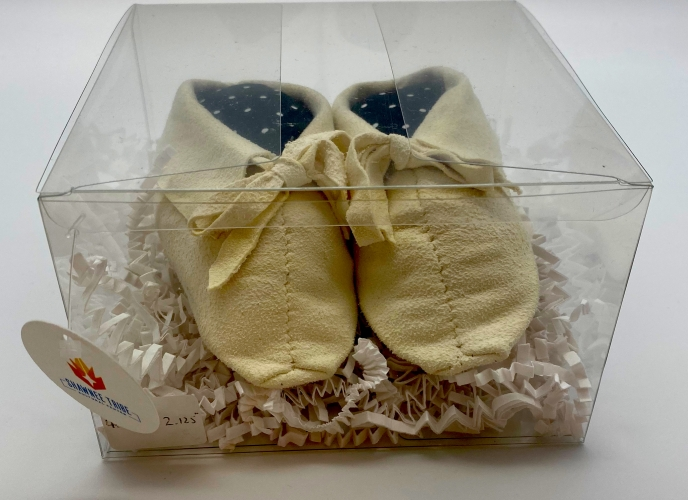 Baby moccasins; 4.75 X 2.125
